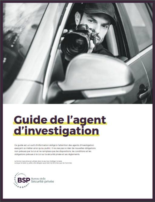 Guide de l'agent d'investigation